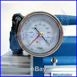3s Vacuum Pump Gauge Solenoid Valve Refrigeration 6 Cfm 2 Stage 1/3 HP 100 L/min