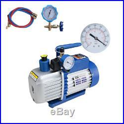 4.5CFM Vacuum Pump Two Stage Rotary Vane HVAC Air Conditioning Refrigeration