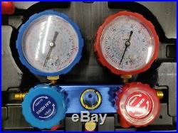 AC Refrigeration Gauge Manifold set kit R410a R134a R404 R32 air condition