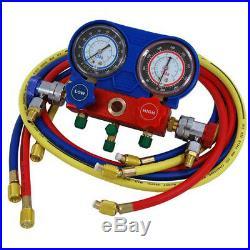 Air Conditioning R-134A AC Diagnostic A/C Manifold Gauge Tool Set Refrigeration