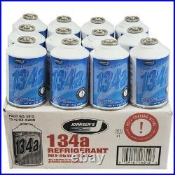 Johnsens R134a Auto A/C Air Conditioning Refrigerant Freon Gas USA 12oz -36 Can
