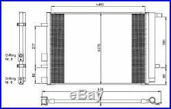 NRF Air-con Condenser 350095 Next working day to UK