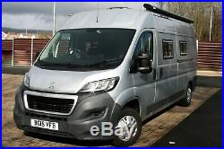 Peugeot Boxer Camper, Silver, 4 berth, 4 travelling seats, fixed beds. L3H2