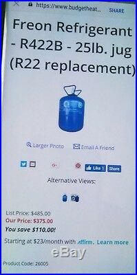R22 EPA Approved R-22 Replacement NEW NU-22, Refrigerant Drop-In Replacement 25#