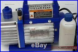 Refrigerant Rotary Vacuum Pump + 100KG scale + 3 way manifold gauge R410a R134a
