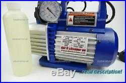 Refrigerant Rotary Vacuum Pump with solenoid and gauge R410a R134a R32 R404a